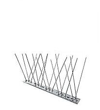 dissuasore per volatili punte in acciaio inox lunghezza cm 100 piccioni uccelli