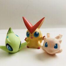 Celebi Victini Mew Mythical Pokemon Nintendo Bandai 3 Jouet Figures Set Bundle