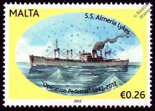 SS Almeria lykes (empire Condor) type C3 cargo WWII Malte convois cachet