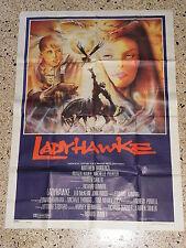 R1 MANIFESTO ORIGINALE 4F  LADYWAWKE LADY HAWKE RICHARD DONNER