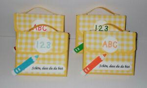 4x Gastgeschenke Give away Mini Schulranzen Einschulung Schulanfang 1.Schultag B