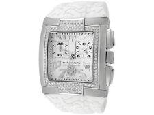 New TechnoMarine Hummer DXSMSHW Chronograph Genuine Diamond Bezel White Watch