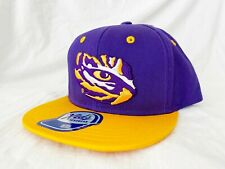 NCAA LSU Tigers Outerstuff Two-Tone Flat Visor Snapback, Team Color Boys 4-7 New