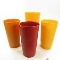 Tupperware Tumbler Cup Lot #873 #1348 Yellow Orange Red