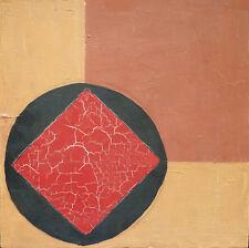 Lucienne OLIVIERI (1910-2007) HsT Bauhaus  Abstraction géométrique Suprématie