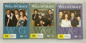 3x WILL & GRACE DVD Sets - Season 2, 4 & 5 - All 4x DVD Sets (12 Discs In Total)