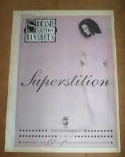 SIOUXSIE AND THE BANSHEES - SUPERSTITION - ORIGINAL advert POSTER 1991 - 16 X 12