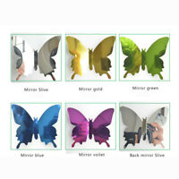 12pcs 3D Mirror Butterfly Wall Stickers Decal Wall Vinyl Art Home Decoration @N