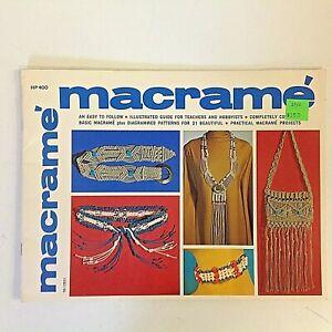 Vintage 1971 Gick Books Macrame Illustrated Guide Diagram Pattern Lynn Paulin 71