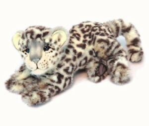 Snow Leopard cub by Hansa - realistic plush big cat soft toy - 30cm - HTC6304