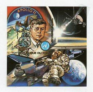 CHAD  APOLLO 11 & JOHN F. KENNEDY IMPERF SOUVENIR SHEET MINT  NH
