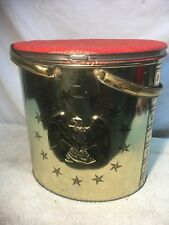 Vintage Tri Chem Metal Paint Craft Can Trash Sewing Hobby Container USA EAGLE
