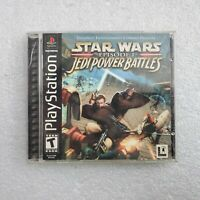 Playstation 1 (PS1) Star Wars Jedi Power Battles w/ Manual - USED, Fast Shipping