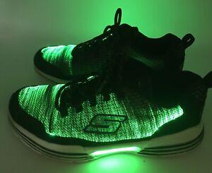 Skechers Unisex Kids' S Lights-Luminators Sneaker BLACK/LIME SN 90730L Size 4