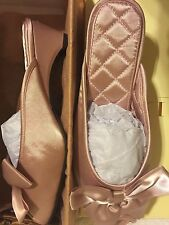 LMN Luxe Me Now Slippers Tryst Oversized Bow Shoes, Blush, Women's 8.0, NEW