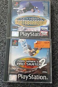 PS1 Tony Hawks Skateboarding Games Bundle X 2 PAL Playstation 1 2 Compatible