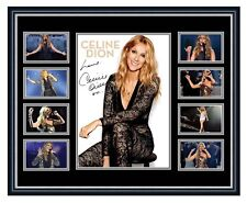 CELINE DION SIGNED LIMITED EDITION FRAMED MEMORABILIA