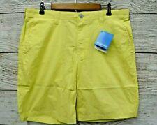"""Columbia Shorts Mens Size 38 (38"""" Actual Waist) Lemon Zest 8"""" Cotton Shorts New"""