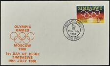 Zimbabwe 1980 Olympic Games FDC First Day Cover #C53832
