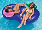 Inflatable Side Pool Lounger Float Tube Swimming 2Person Water River Raft Summer