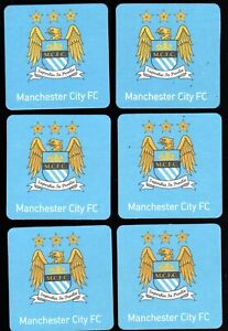 MANCHESTER CITY F.C. Pack of  Official Beer Mats / Coasters FREE POSTAGE UK