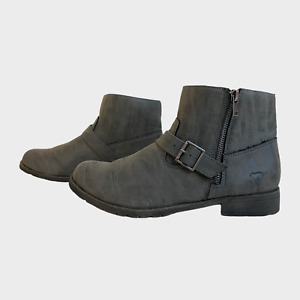 ROCKET DOG Ladies Womens Boots Size UK 8 Eu 41 Grey Bikers Ankle Boots