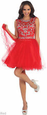 NEW COCKTAIL SHORT PROM DRESS SWEET 16 PARTY HOMECOMING BRIDESMAID SEMI FORMAL