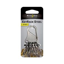 Nite Ize S-Biner KeyRack Stainless Steel Keychain Carabiner w/Steel S-Biners