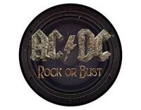OFFICIAL LICENSED - AC/DC - ROCK OR BUST WOVEN SEW-ON PATCH ROCK ANGUS