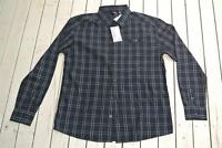 QUIKSILVER SurfWear Size XL Black SHIRT White Check NEW rrp$59.99 Long Sleeve.