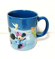 Disney Characters Blue Coffee Mug Mickey Minnie Peter Pan Donald Goofy More
