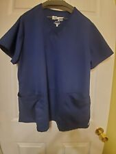 Grey's Anatomy/Barco 2x Navy Blue Scrub Top-Nurse Professional Wear