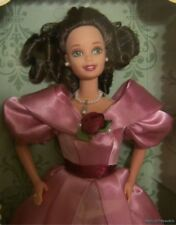 NEW 1995 Barbie First Edition SWEET VALENTINE Brunette Doll GREEN Eyes Rose Gown