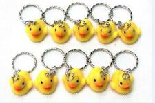 lot of 10 pcs Yellow duck silicone keychain handbag charms straps