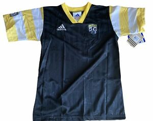New Adidas MLS Columbus Crew Soccer Jersey Yellow Black Youth Size Large