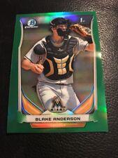 2014 Bowman Chrome Draft Blake Anderson #CDP#34 Green Refractor Card #'D 106/150