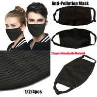Black Fashion Unisex Health Cycling Anti-Dust Cotton Mouth Face Mask Respirator.