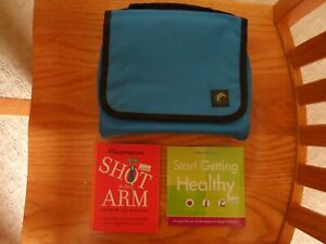 Weight Watchers Member Organizer Blue Carrying Case Material Holder Bag -extras!