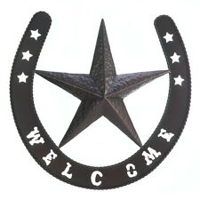 Iron Lone Star Welcome Wall Decor Plaque Sign Rustic Western Country Ranch Gift