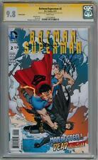 BATMAN SUPERMAN #2 VARIANT CGC 9.8 SIGNATURE SERIES SIGNED PAK & JAE LEE MOVIE