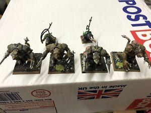 Warhammer Age Of Sigmar Skaven Rat Ogres Packmasters Painted