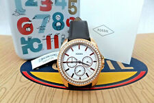 FOSSIL ladies Janice Multifunction Drk/Brown Leather Watch BNWB RRP £129 BQ3383