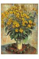 Fine Art Quality Postcard Jerusalem Artichoke Flowers (1880) by Claude Monet AM9