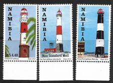 NAMIBIA, 2010, LIGHTHOUSES, SG 1152-54, MNH SET 3, CAT £14