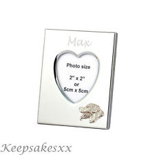 Heart Photo Frame - ROTTWEILER DOG Sterling Silver & personalised engraving