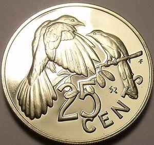 Rare Proof British Virgin Islands 1979 25 Cents~5,304 Minted~Mangrove Cuckoo~F/S