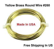 20 Ga Brass Wire 2 Oz Coil 44 Ft. HALF HARD Solid Brass Round Wire / Made In USA