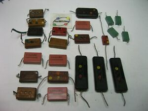 Assorted Silver Mica Domino Capacitor Grab-Bag - Used Pulls Qty 23