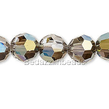 6 Swarovski Crystal 6mm Faceted Round Beads With Facets 5000 Series Colors A-K
