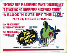 THE IPCRESS FILE original 1965 22x28 movie poster MICHAEL CAINE/NIGEL GREEN